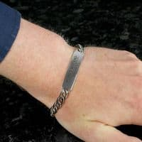 Personalised Classic Stainless Steel Unisex Bracelet - ideal jewellery gift for him or her